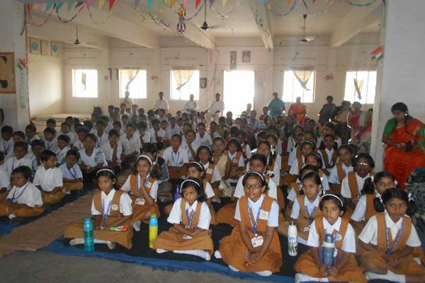 Meditation in School Hall